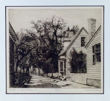 Leonard MERSKY - Print-Multiple - Street in Williamsburg, VA