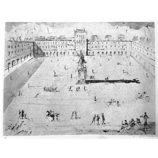 Salvador DALI - Print-Multiple - La Grande Place des Vosges, du temps de Louis XIII