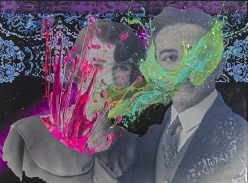 Jean-Luc CURABET - Painting - Rosiériste et ovairiste