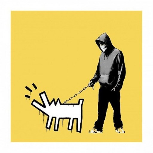 BANKSY - Stampa-Multiplo - Choose Your Weapon (Soft Yellow)