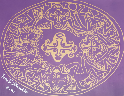Yvon TAILLANDIER - Druckgrafik-Multiple - Tribal violet