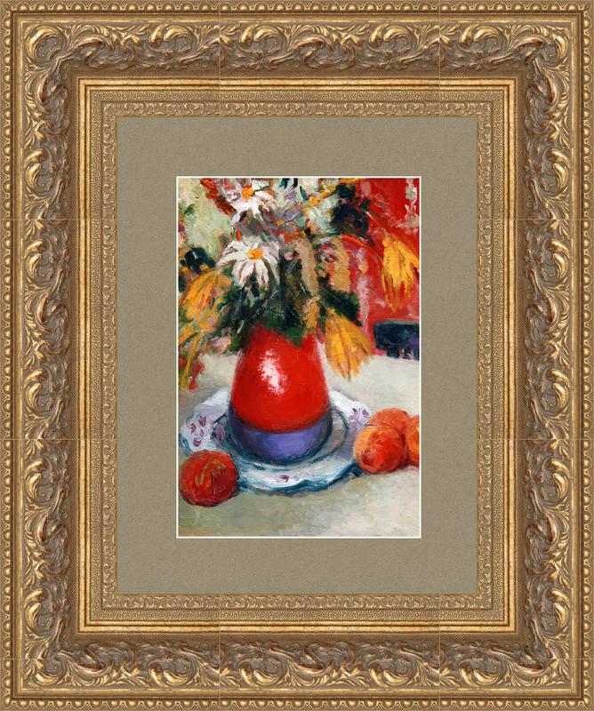 Levan URUSHADZE - Peinture - Still life with peaches