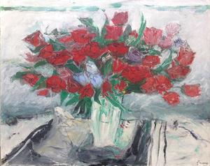 Jean FUSARO - Pintura - Rouges ! Les roses