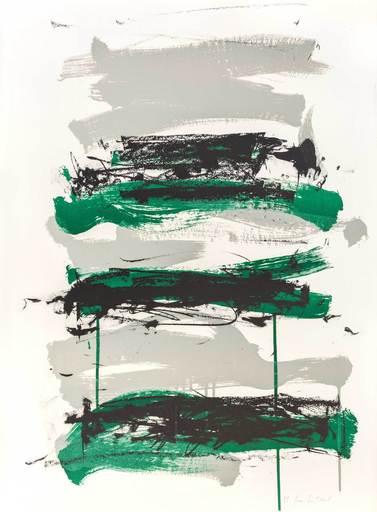 琼安•米契儿 - 版画 - Champs - Black, Grey and Green
