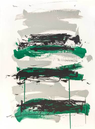 Joan MITCHELL - Stampa-Multiplo - Champs (Fields) - Black, Grey and Green