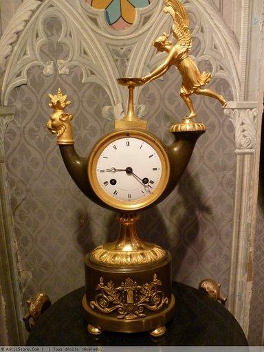 Pendule Lampe Antique, Epoque Empire