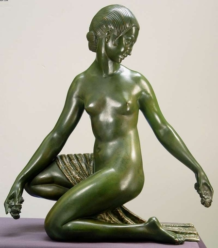 "Marcel André BOURAINE - Sculpture-Volume - ""Forest Nymph"""