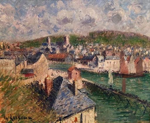 Gustave LOISEAU - Painting - L'avant-port de Fecamp'