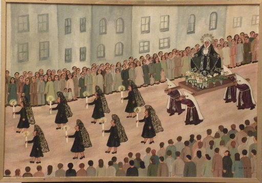 Anna DIGESU - Gemälde - procession andalouse 1974