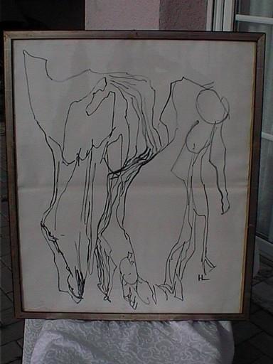Henri LAURENS - Dibujo Acuarela