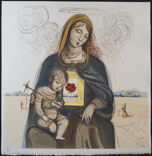 萨尔瓦多·达利 - 版画 - The Mystical Rose Madonna