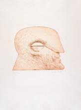 Horst ANTES - Grabado - Kopf mit geschlossenen Augen