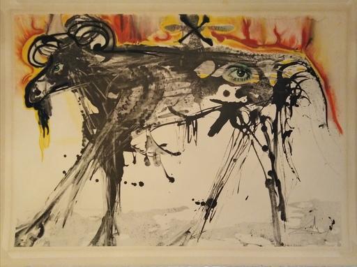 Salvador DALI - Estampe-Multiple - The Ram (Homage to Gerrit Dou)