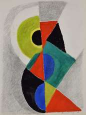 Sonia DELAUNAY-TERK - Drawing-Watercolor - Rythme Couleur