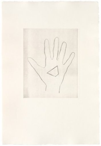 Jonathan MONK - Estampe-Multiple - My Left Hand Holding a Piece 3