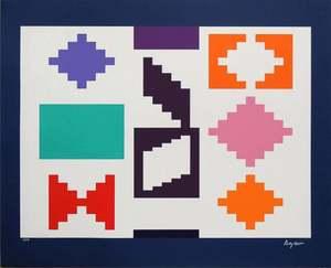 Yaacov AGAM - Grabado - Design IV