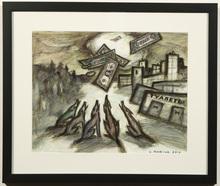 Oskar RABIN - Drawing-Watercolor - Wolves and Money