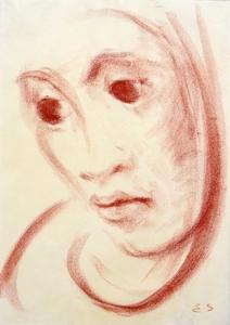 Elisabeth SCHMITZ - Zeichnung Aquarell