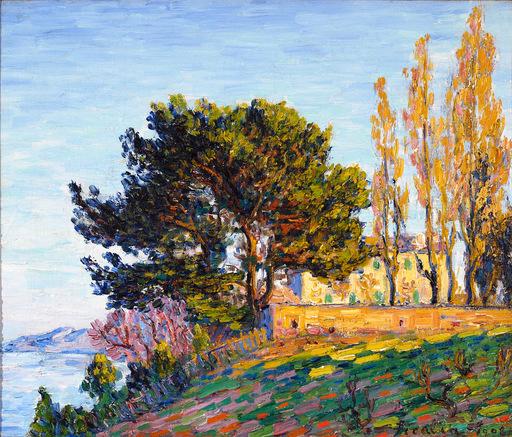 Francis PICABIA - Pintura - Effet de soleil couchant sur l'étang de Berre, Martigues