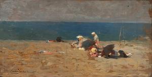 Luigi CAVALIERI - Pintura - In spiaggia