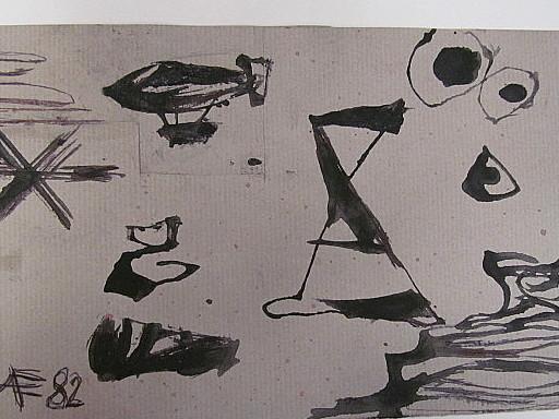 Arnold FIEDLER - Disegno Acquarello - Wandzeichnung