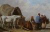 Alexandre THIOLLET - Pintura - Muschelsammler - Ramasseurs de coquillages