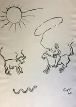 亚历山大•卡尔德 - 版画 - COW BOY