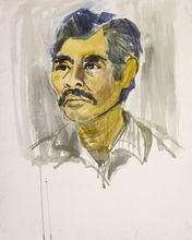 Romeo TABUENA - Drawing-Watercolor - Autoretrato