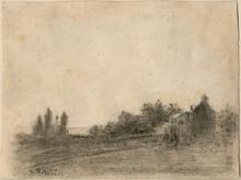 卡米耶•毕沙罗 - 水彩作品 - Pontoise