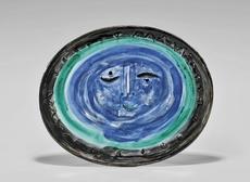 巴勃罗•毕加索 - 陶瓷  - Visage dans un ovale