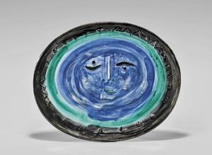 Pablo PICASSO - Céramique - Visage dans un ovale