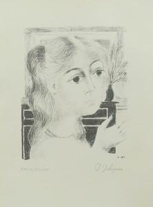 Paul DELVAUX - Print-Multiple - Jeune fille au collier de perles