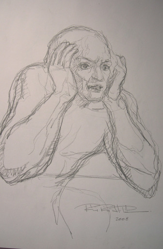 Roger PEREZ DE LA ROCHA - Dibujo Acuarela - Contemplation