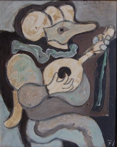 Ed DUKKERS - Painting - Gitarplayer