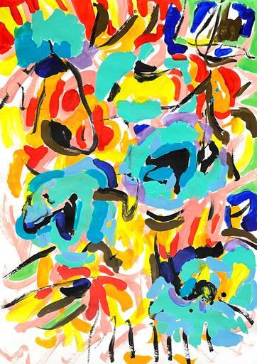 Katia TROTSENKO - Dibujo Acuarela - Blue flowers