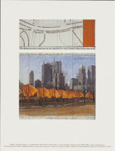 CHRISTO - Estampe-Multiple - The Gates (d)