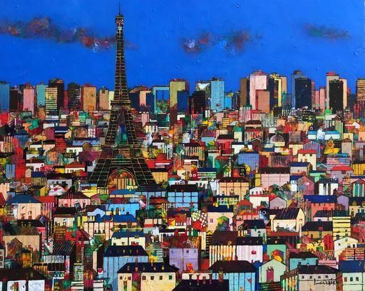 Jean-François LARRIEU - Peinture - Les Toits de Paris