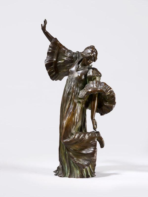 "Agathon LÉONARD - Sculpture-Volume - ""DANSEUSE AU COTHURNE"", CIRCA 1901"