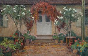Henri MARTIN - Pittura - Automne, entrée principale de Marquayrol
