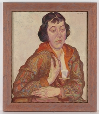 "Josef LACINA - Painting - ""Female Portrait"", 1920s, Oil Painting"