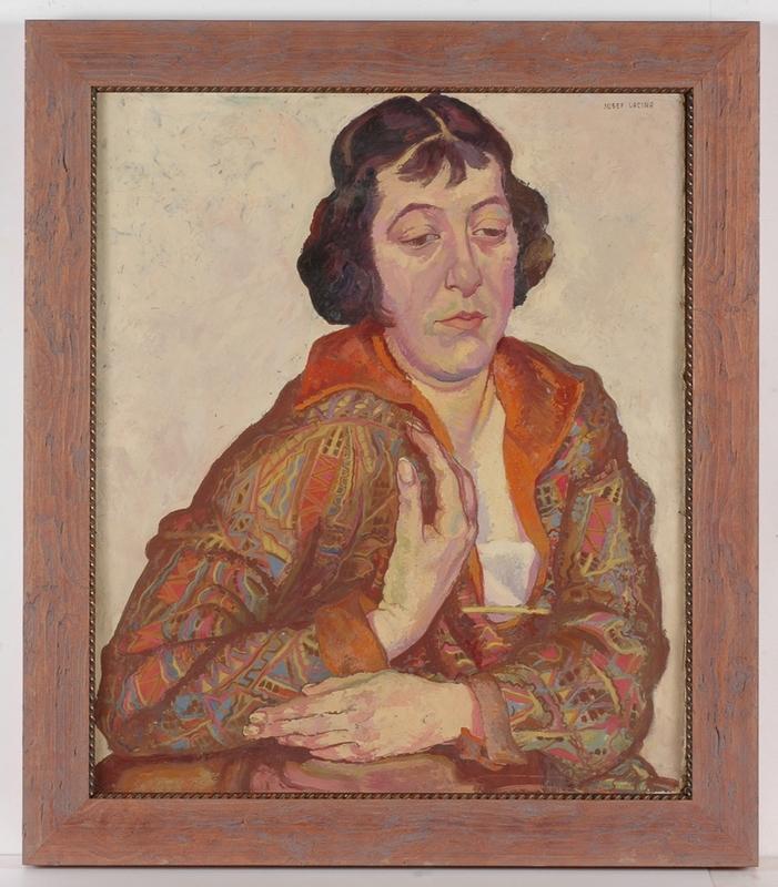 "Josef LACINA - Gemälde - ""Female Portrait"", 1920s, Oil Painting"