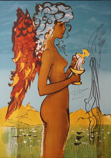 Salvador DALI - Estampe-Multiple - Trilogy of Love Love's Promise
