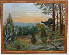 Ernst JOSEPHSON - Painting - Impressionistic landscape mystic nationalism from 1880ths