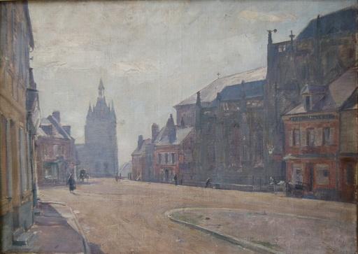 Eugène Edmond THIERY - Pintura - rue animée