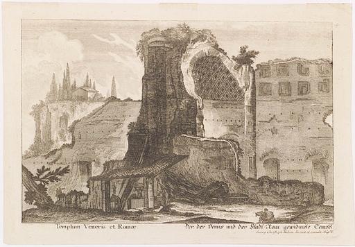 "Georg Christoph KILIAN - Pittura - ""Antique Rome"", Engraving, 18th Century"