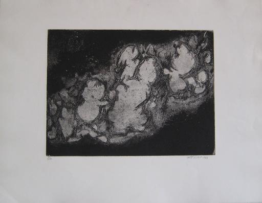 Roger-Edgar GILLET - Grabado - GRAVURE 1963 SIGNÉE AU CRAYON NUM/20 HANDSIGNED NUMB ETCHING