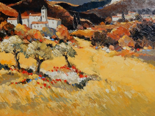 Claude MESCOULI - Pittura - Le Vallon