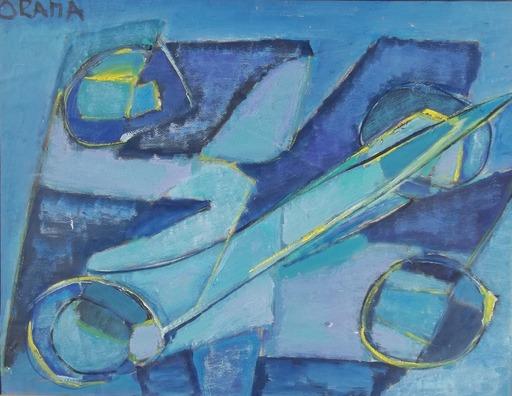 Olga ORANA - Peinture - fusée au milieu des planétes