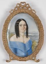 """Alois VON ANREITER - Miniature - """"Portrait of a Lady"""", 1840s, Miniature"""