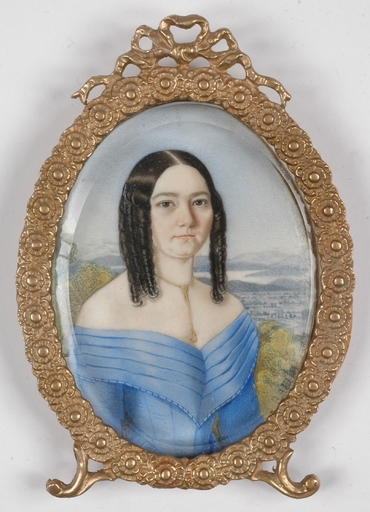 "Alois VON ANREITER - Miniatura - ""Portrait of a Lady"", 1840s, Miniature"